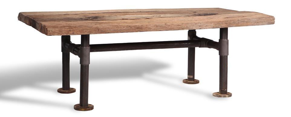 Solid Wood Top with metal legs table - ordering custom made furniture in Bali